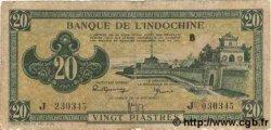 20 Piastres vert INDOCHINE FRANÇAISE  1944 P.070 TB+