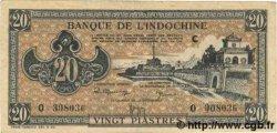20 Piastres marron INDOCHINE FRANÇAISE  1945 P.071 TTB
