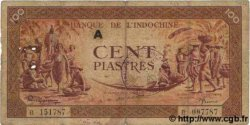 100 Piastres orange INDOCHINE FRANÇAISE  1942 P.066 TB