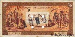 100 Piastres orange INDOCHINE FRANÇAISE  1942 P.066s TTB
