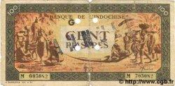 100 Piastres orange, cadre noir INDOCHINE FRANÇAISE  1945 P.073s TB
