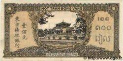 100 Piastres orange, cadre noir INDOCHINE FRANÇAISE  1945 P.073 SUP