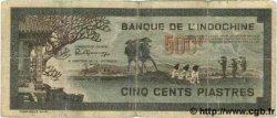500 Piastres gris-vert INDOCHINE FRANÇAISE  1945 P.069 TB