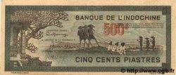500 Piastres gris-vert INDOCHINE FRANÇAISE  1945 P.069 SUP