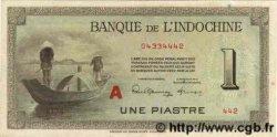 1 Piastre INDOCHINE FRANÇAISE  1945 P.076b SPL