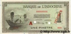 1 Piastre INDOCHINE FRANÇAISE  1945 P.076bs SPL