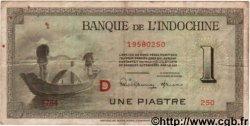 1 Piastre INDOCHINE FRANÇAISE  1945 P.076b TB+