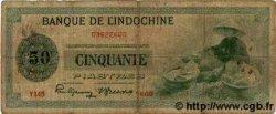 50 Piastres INDOCHINE FRANÇAISE  1945 P.077 B à TB