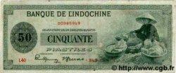 50 Piastres INDOCHINE FRANÇAISE  1945 P.077 TTB