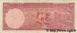 10 Piastres INDOCHINE FRANÇAISE  1947 P.080 TTB+