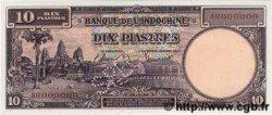 10 Piastres INDOCHINE FRANÇAISE  1947 P.080s