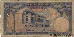 100 Piastres INDOCHINE FRANÇAISE  1945 P.079a AB