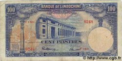 100 Piastres INDOCHINE FRANÇAISE  1945 P.079a TB+
