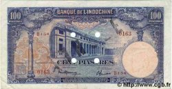 100 Piastres INDOCHINE FRANÇAISE  1945 P.079as TTB+