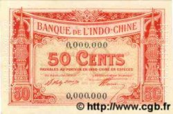 50 Cents INDOCHINE FRANÇAISE  1920 P.046s