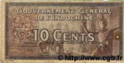 10 Cents INDOCHINE FRANÇAISE  1939 P.085e TB
