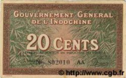 20 Cents INDOCHINE FRANÇAISE  1939 P.086c TTB