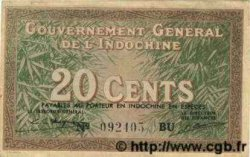 20 Cents INDOCHINE FRANÇAISE  1939 P.086d TTB