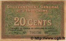 20 Cents INDOCHINE FRANÇAISE  1939 P.086d