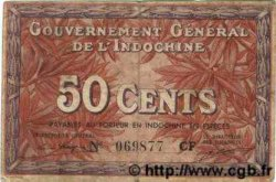 50 Cents INDOCHINE FRANÇAISE  1939 P.087d TB