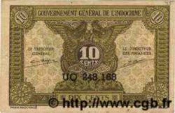 10 Cents INDOCHINE FRANÇAISE  1943 P.089 SUP