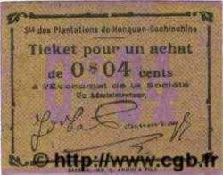 4 Cents avec signature au revers INDOCHINE FRANÇAISE  1920  NEUF