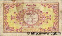 1 Piastre / 1 Kip INDOCHINE FRANÇAISE  1952 P.099 B+