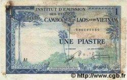 1 Piastre - 1 Riel INDOCHINE FRANÇAISE  1954 P.094s TB+