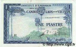 1 Piastre - 1 Riel INDOCHINE FRANÇAISE  1954 P.094s TTB+