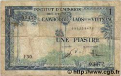1 Piastre / 1 Dong INDOCHINE FRANÇAISE  1954 P.105 B