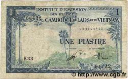 1 Piastre - 1 Dong INDOCHINE FRANÇAISE  1954 P.105 TB