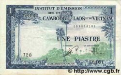 1 Piastre - 1 Dong INDOCHINE FRANÇAISE  1954 P.105 TTB