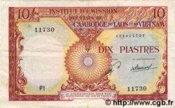 10 Piastres / 10 Kip INDOCHINE FRANÇAISE  1953 P.102 TTB