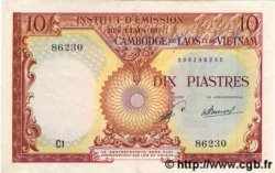 10 Piastres / 10 Kip INDOCHINE FRANÇAISE  1953 P.102 SUP