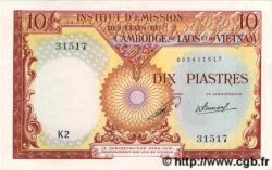 10 Piastres - 10 Kip INDOCHINE FRANÇAISE  1953 P.102 pr.NEUF