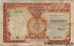 10 Piastres - 10 Dong INDOCHINE FRANÇAISE  1953 P.107 B
