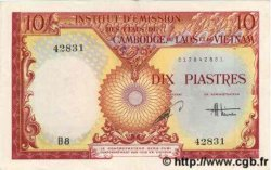 10 Piastres / 10 Dong INDOCHINE FRANÇAISE  1953 P.107 SUP