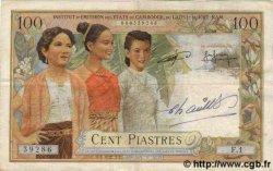 100 Piastres / 100 Riels INDOCHINE FRANÇAISE  1954 P.097 B+