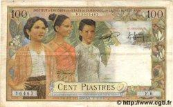 100 Piastres / 100 Riels INDOCHINE FRANÇAISE  1954 P.097 TTB