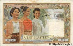 100 Piastres / 100 Riels INDOCHINE FRANÇAISE  1954 P.097 TTB+