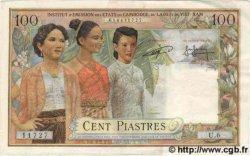 100 Piastres - 100 Riels INDOCHINE FRANÇAISE  1954 P.097s TTB+