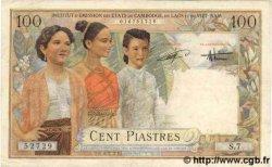 100 Piastres / 100 Dong INDOCHINE FRANÇAISE  1954 P.108 TTB+