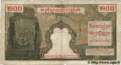 200 Piastres / 200 Riels INDOCHINE FRANÇAISE  1953 P.098 B+