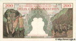 200 Piastres - 200 Riels INDOCHINE FRANÇAISE  1953 P.098 SUP
