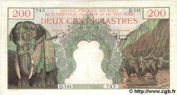 200 Piastres / 200 Dong INDOCHINE FRANÇAISE  1954 P.109 TB+