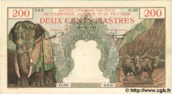 200 Piastres - 200 Dong INDOCHINE FRANÇAISE  1954 P.109s SUP