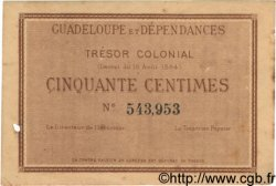 50 Centimes GUADELOUPE  1884 P.01 TTB+