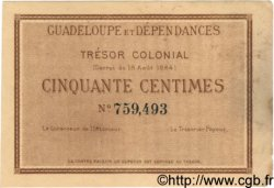50 Centimes GUADELOUPE  1884 P.01 SUP