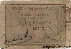2 Francs GUADELOUPE  1884 P.03A TB+