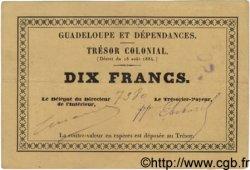 10 Francs GUADELOUPE  1884 P.05 SUP